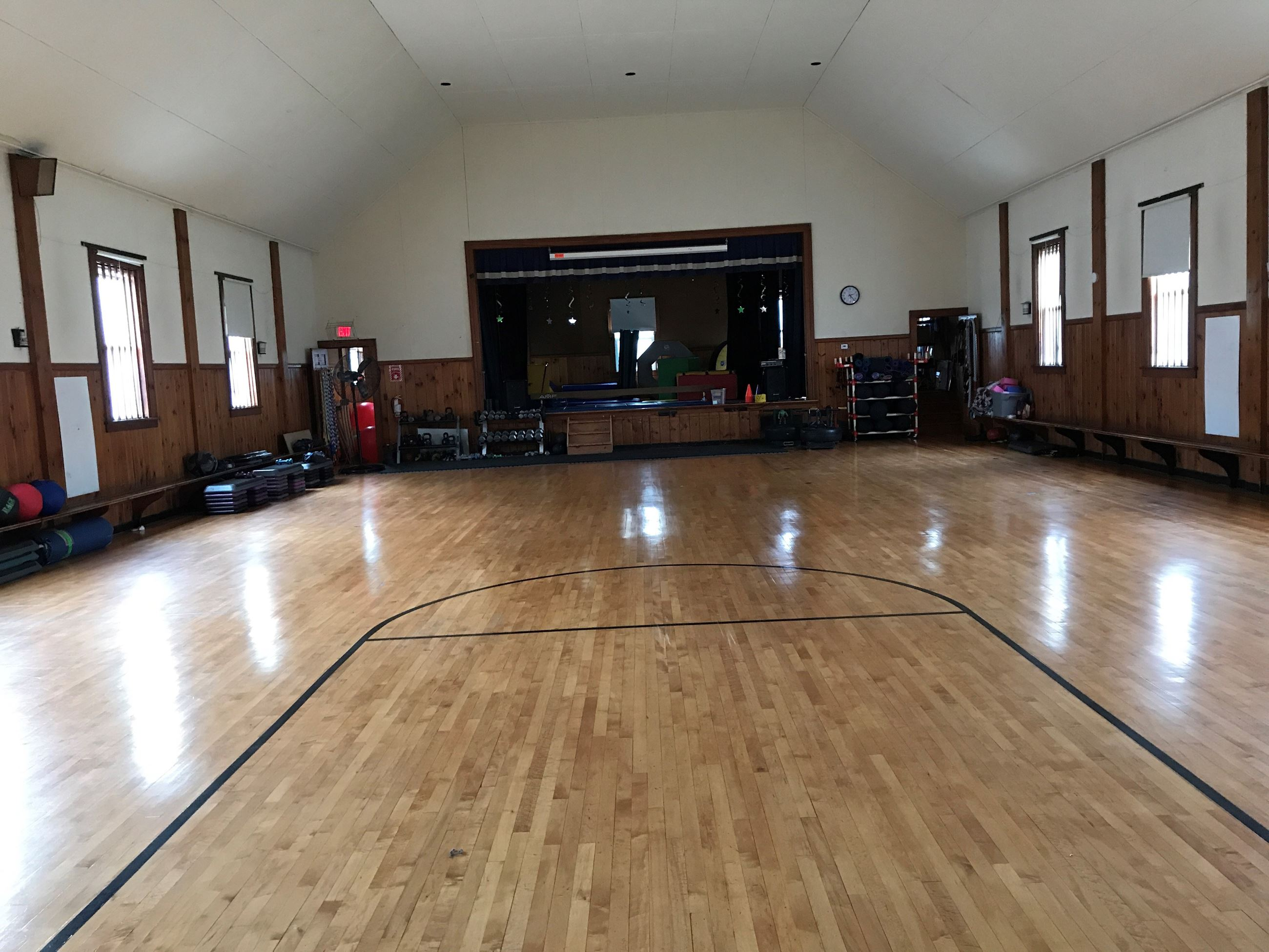 Recreation Center Hall Stage