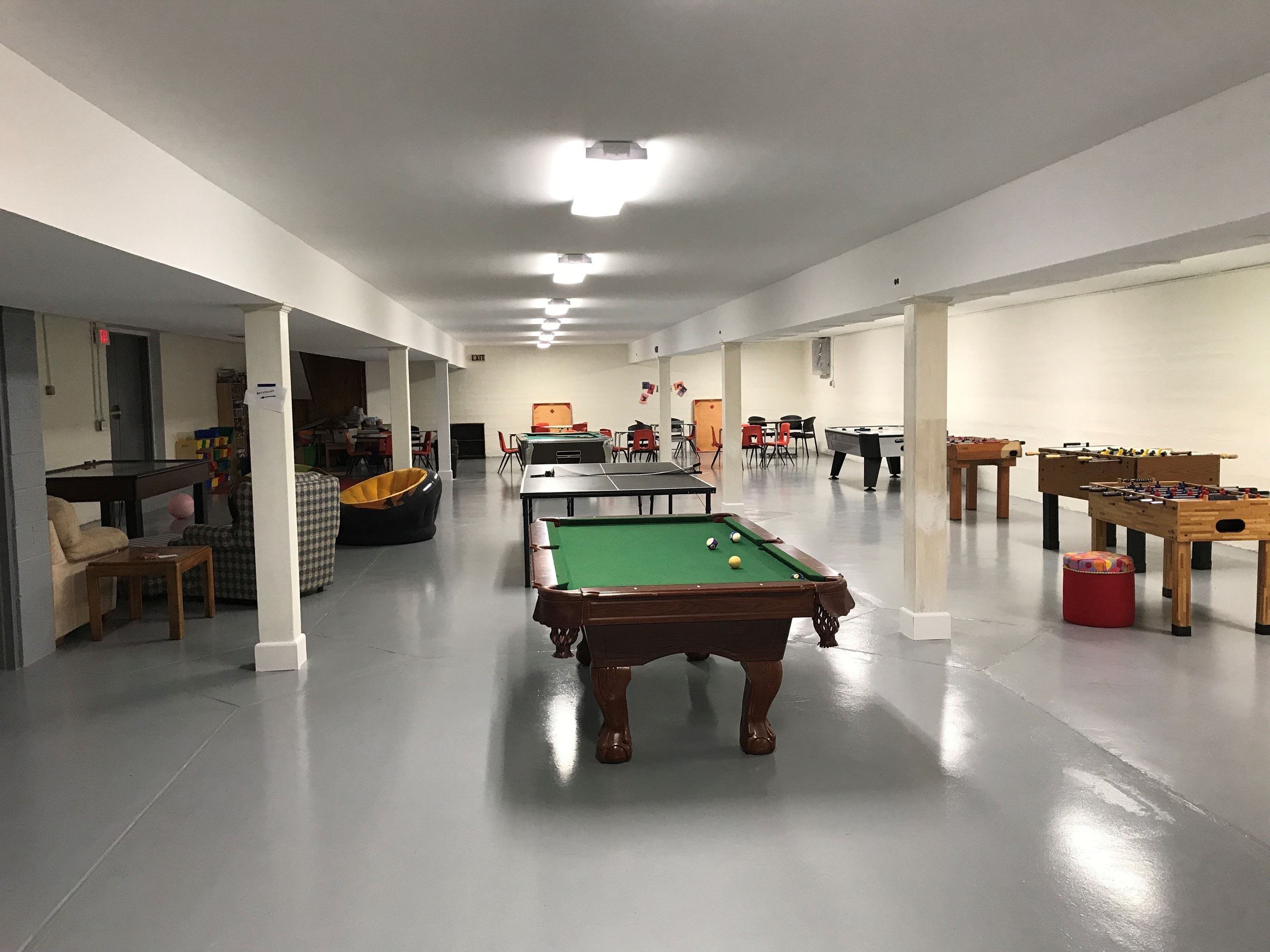 Recreation Center Basement Game Room 1