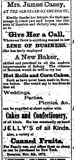 Detailed newspaper clip about a baker from the 1870's