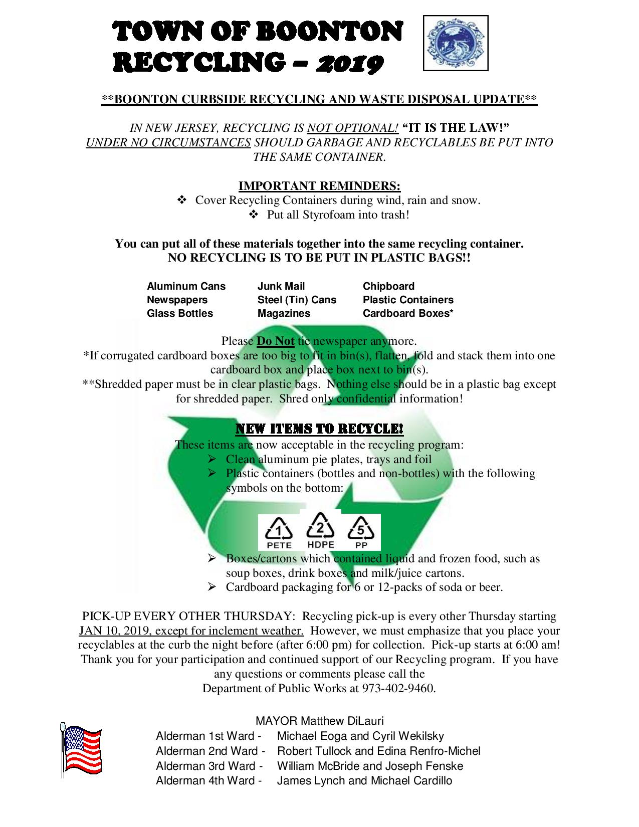 Recycling Flyer 2019 Pg 1