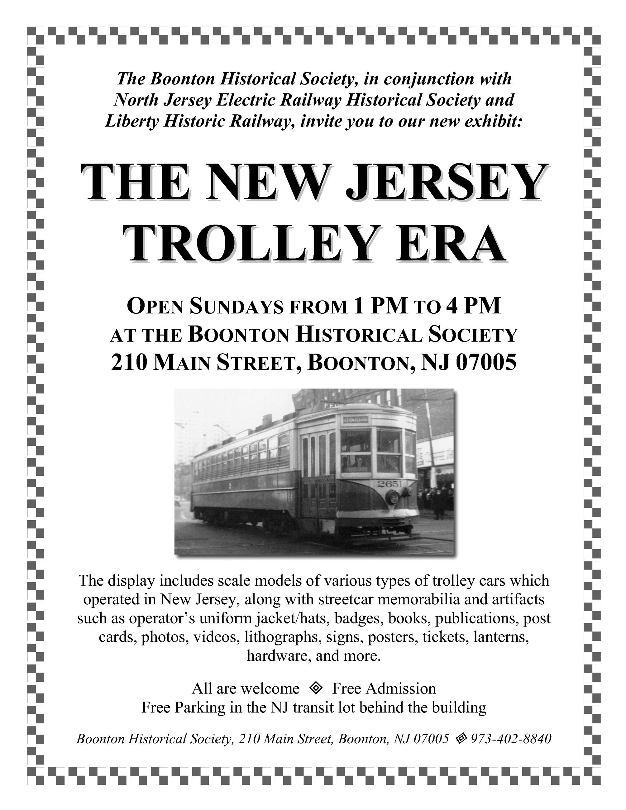 Boonton Historical Society Trolley