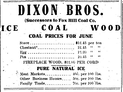 detailed ad about the Dixon Bros.
