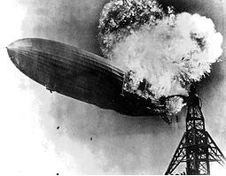 Hindenburg Zeplin crashing