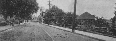 black and white photo of Main Street, Boonton, NJ