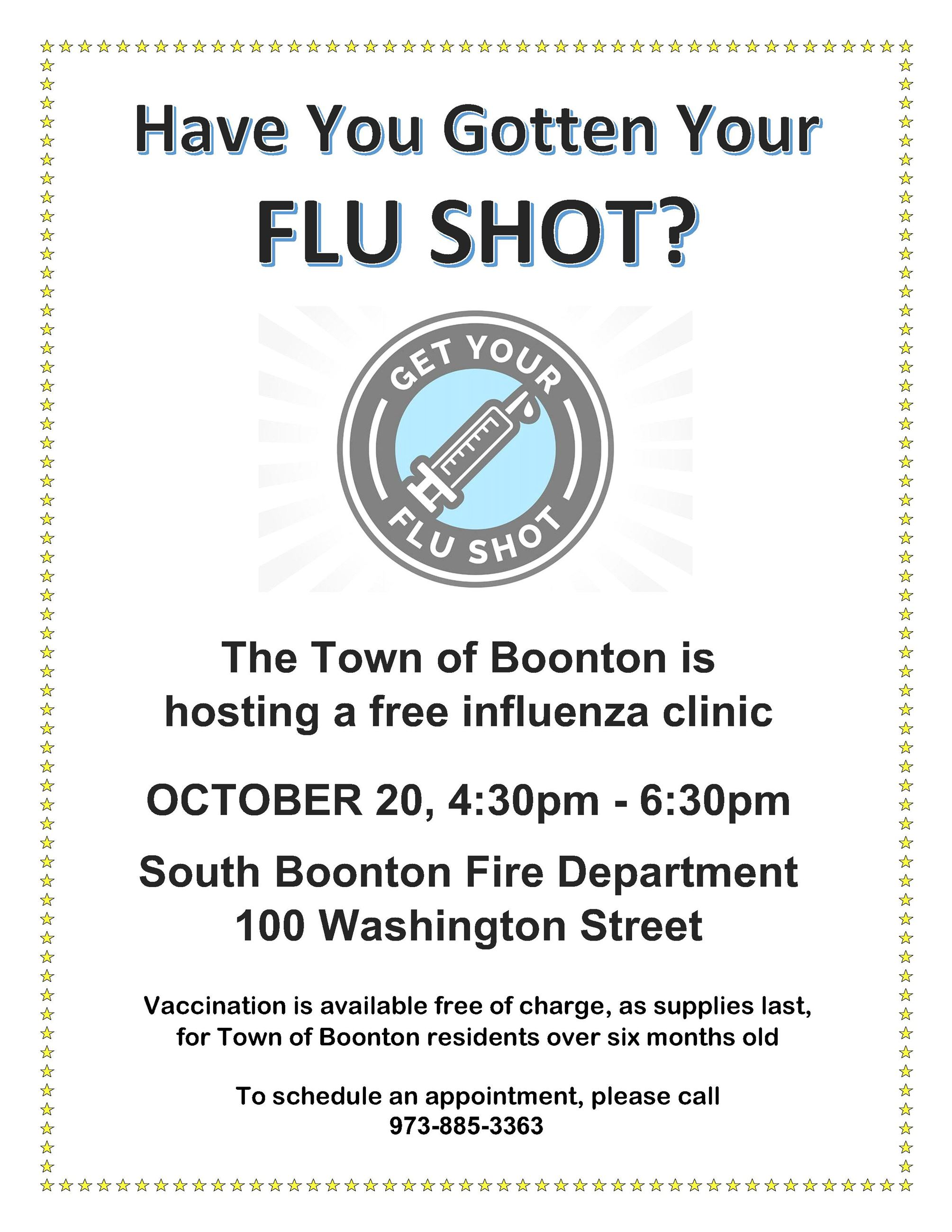 Free Flu Clinic October 2020