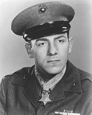 Hector Cafferata wearing military uniform