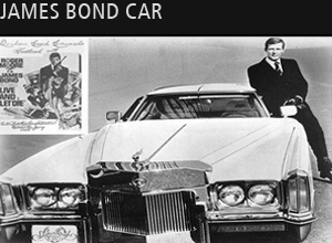 Man in suit leaning on a car from James Bond
