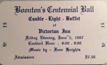 Boonton's Centennial Ball with details of the event