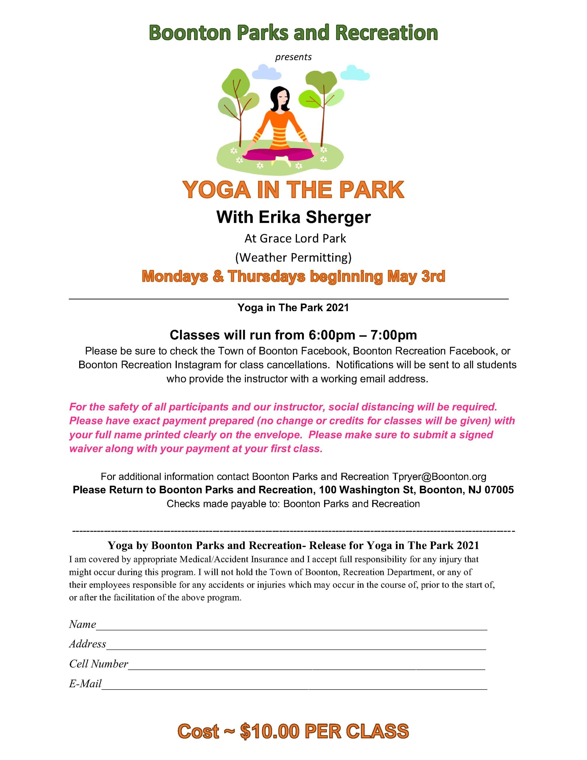 Yoga in the Park 2021
