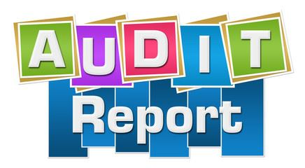 audit report in colorful blocks