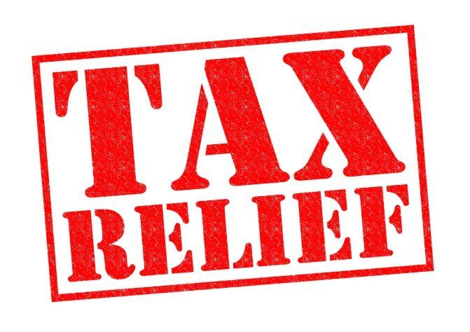 tax relief stamp in red
