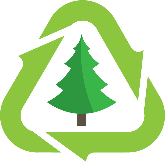 Christmas tree disposal logo in green
