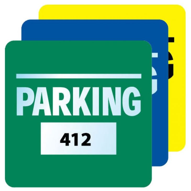 different colored parking permits