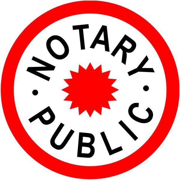 notary public seal in red