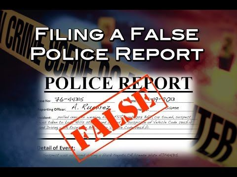 False report image